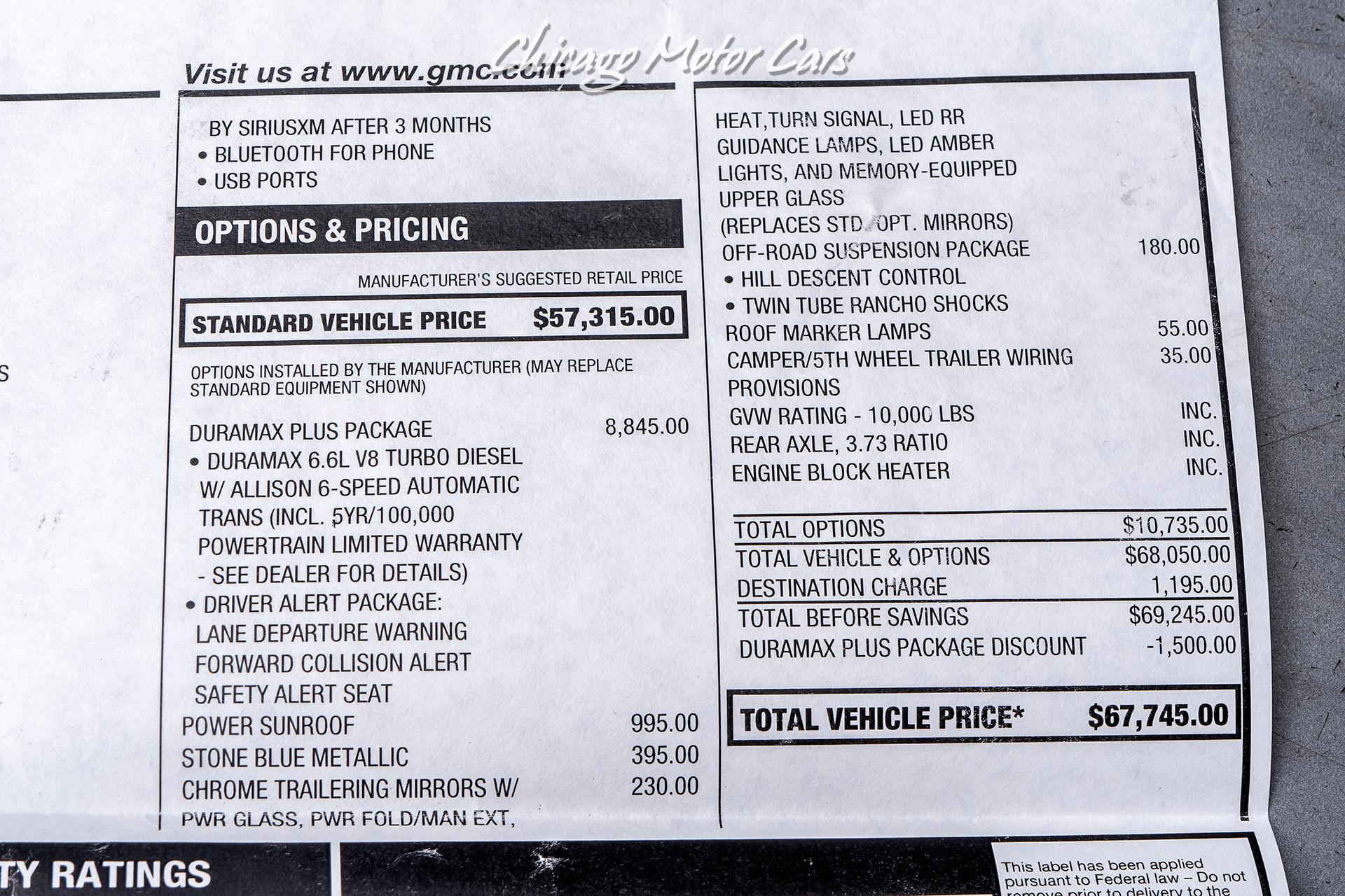 Denali Pickup DURAMAX TURBO DIESEL! | eBay