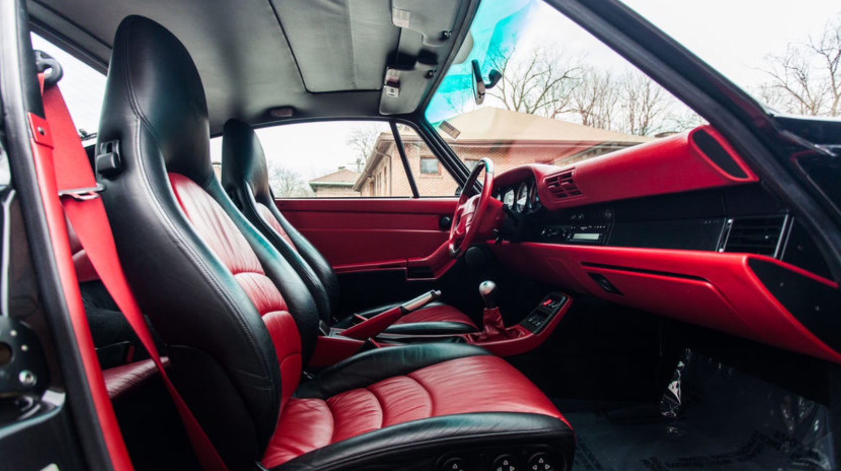 Used-1997-Porsche-911-Turbo-993-Coupe-Only-17k-Miles-RARE-Black-with-Boxster-Red-Interior-Servic