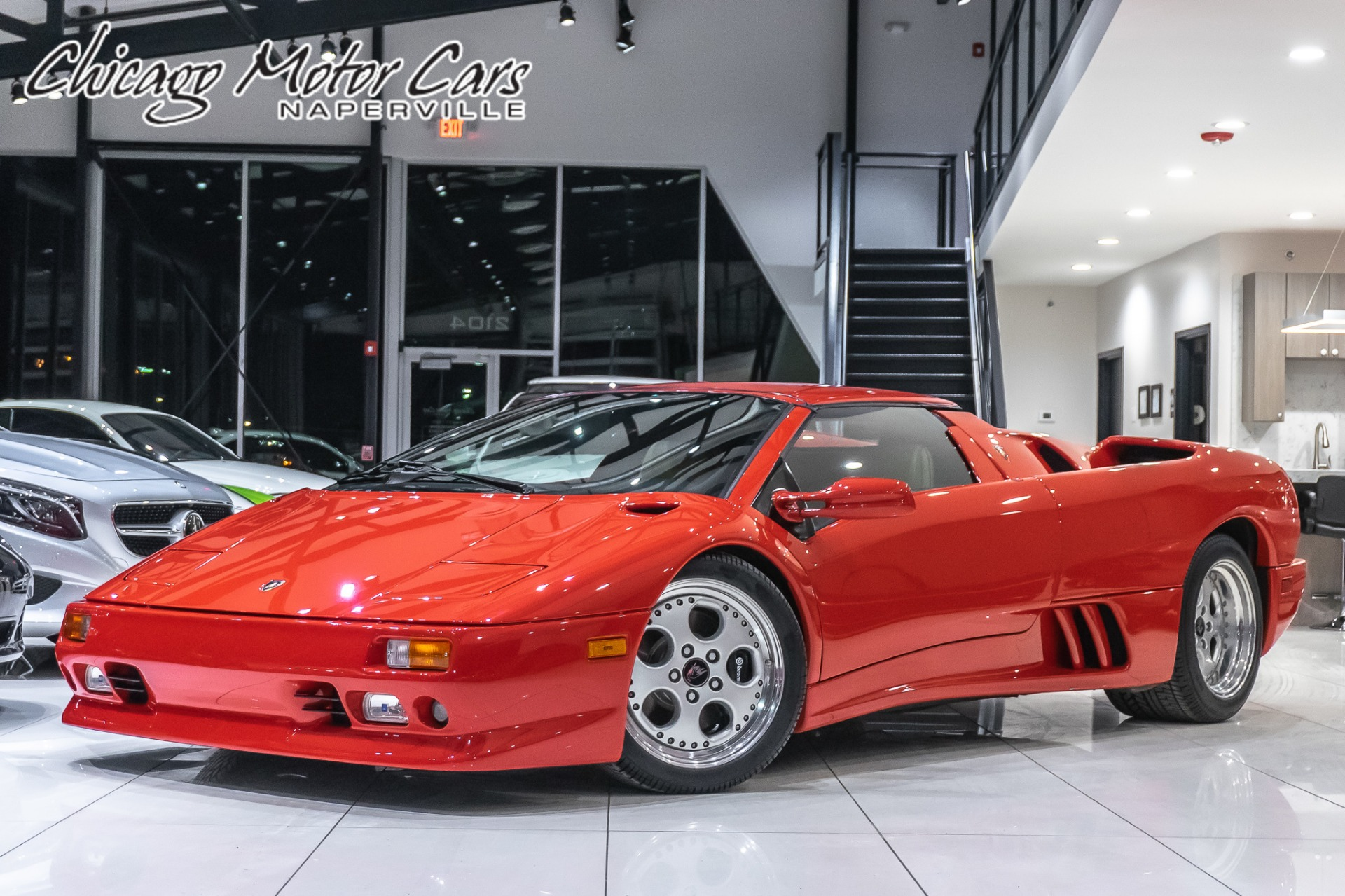 used 1997 lamborghini diablo vt roadster 1 260 miles collectors car 5 speed gated manual for sale special pricing chicago motor cars stock 16051a used 1997 lamborghini diablo vt
