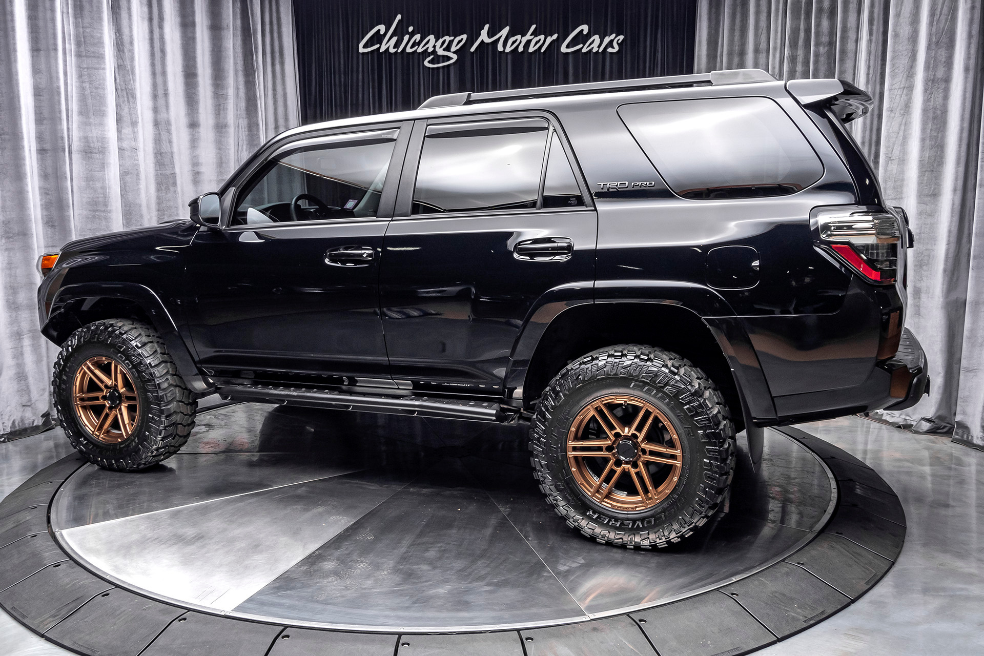 Used 2015 Toyota 4runner Trd Pro 4x4 Suv 10k In Upgrades Low Miles Vorsteiner Wheels For Sale Special Pricing Chicago Motor Cars Stock 16436a