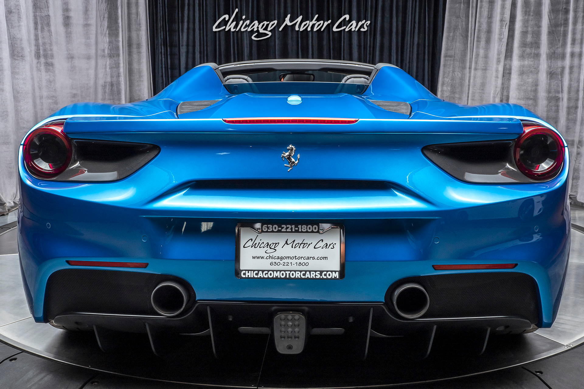 Used 2017 Ferrari 488 Spider Convertible Loaded With Thousands In Options For Sale Special Pricing Chicago Motor Cars Stock 16239