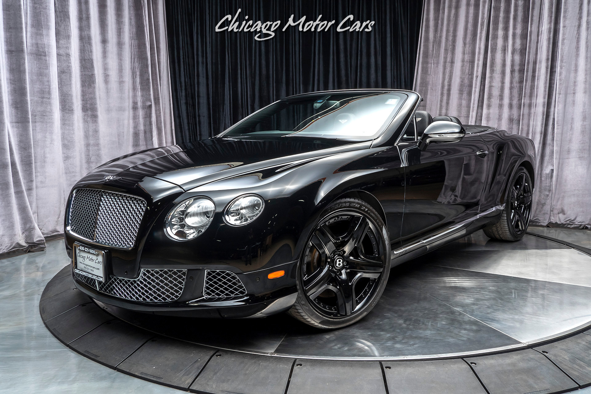 Used 2012 Bentley Continental Gtc Convertible Mulliner Package Triple Black For Sale Special Pricing Chicago Motor Cars Stock 15652