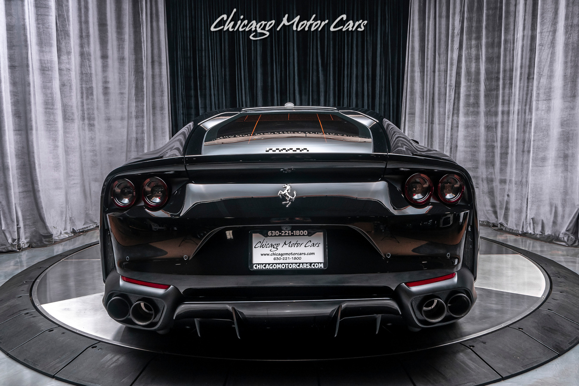 Used-2019-Ferrari-812-Superfast-Coupe-MATTE-BLACK-FORGED-RACING-WHEELS-ONLY-300-MILES