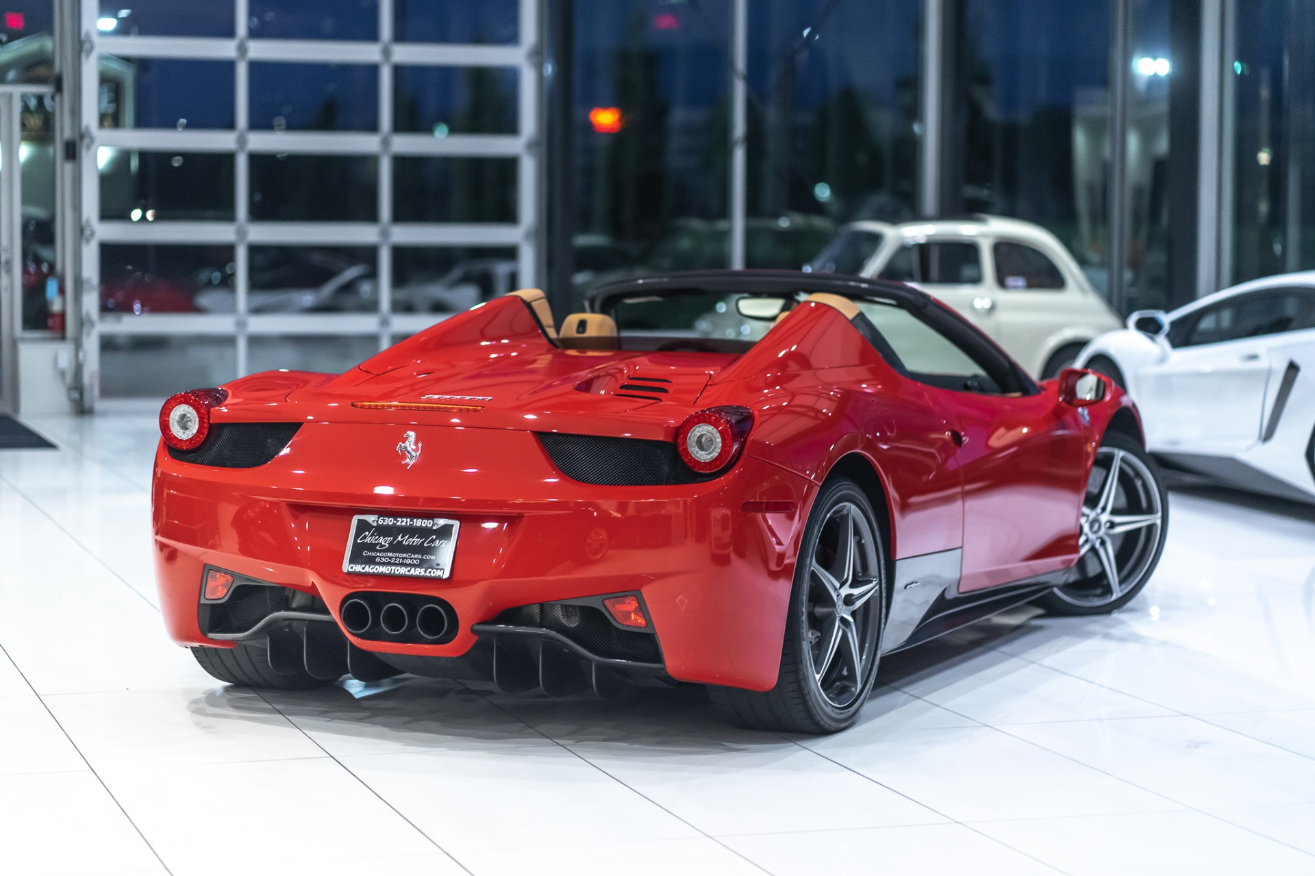 Used-2012-Ferrari-458-Spider-OVER-30K-IN-FACTORY-CARBON-FIBER-DAYTONA-STS-SPORT-EXHAUST