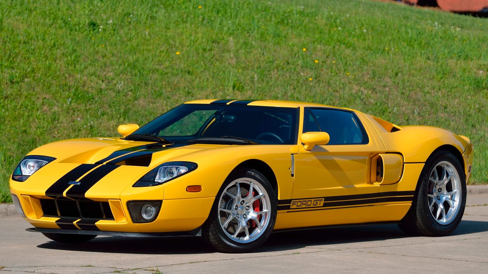 Used-2006-Ford-GT-Coupe-All-4-Options-Yellow-RARE-1-OF-171