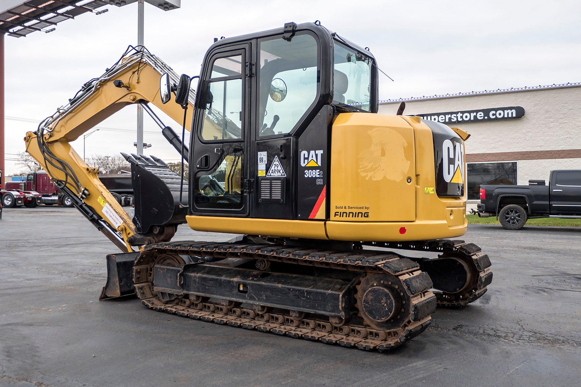 Used-2017-Caterpillar-308E2-Hydraulic-Excavator-ONLY-1100-HOURS