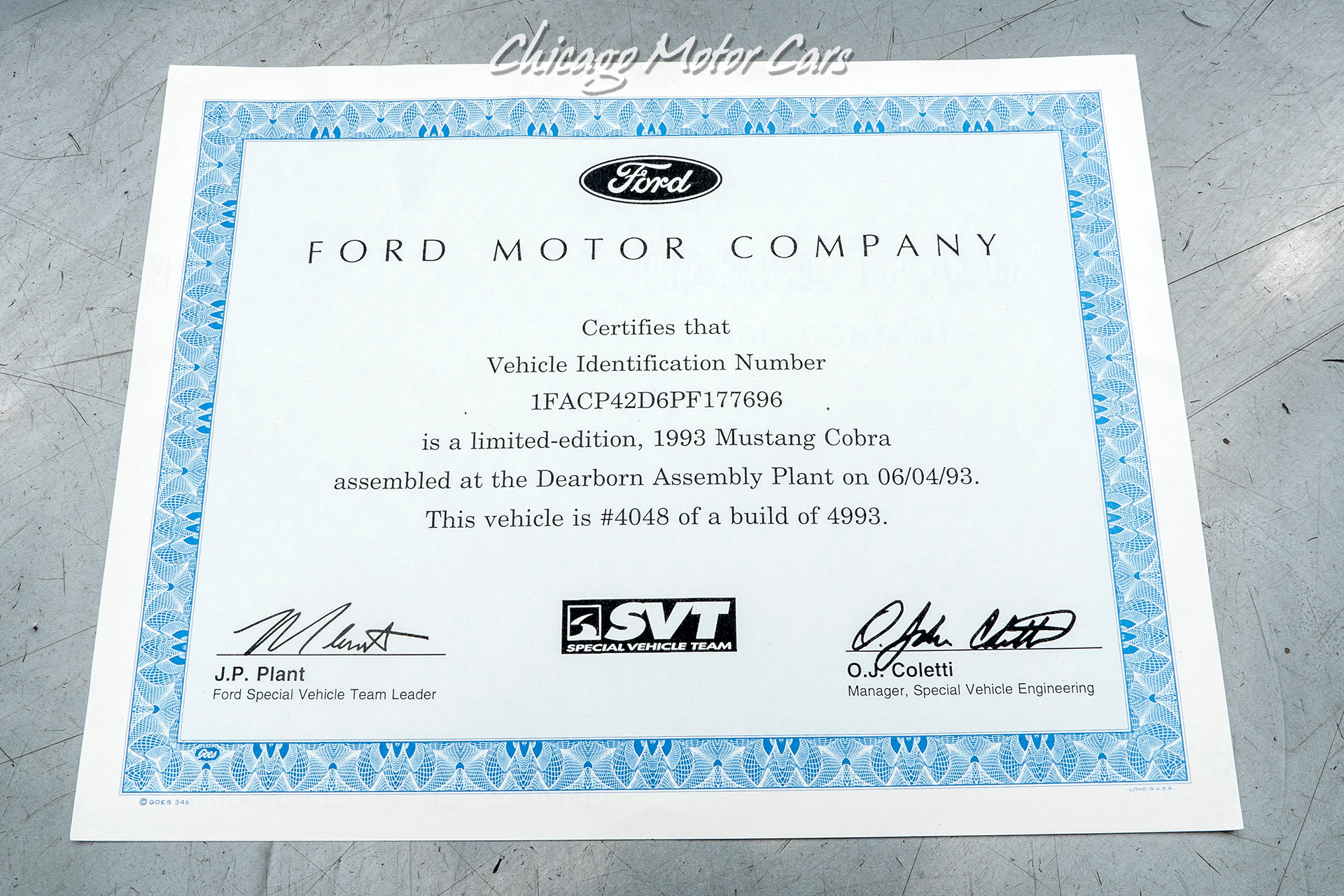 Used-1993-Ford-Mustang-SVT-Cobra-Coupe-EXCELLENT-CONDITION-ONLY-7800-MILES-LIMITED-EDITION