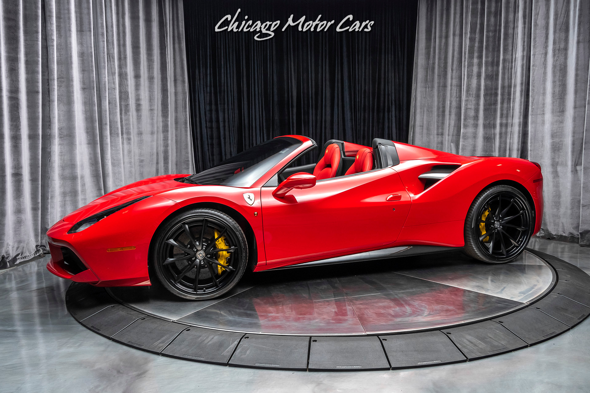 Used 2018 Ferrari 488 Spider Convertible 21 22 Hre Performance Wheels Carbon Fiber Sport Exhaust For Sale Special Pricing Chicago Motor Cars Stock 16728