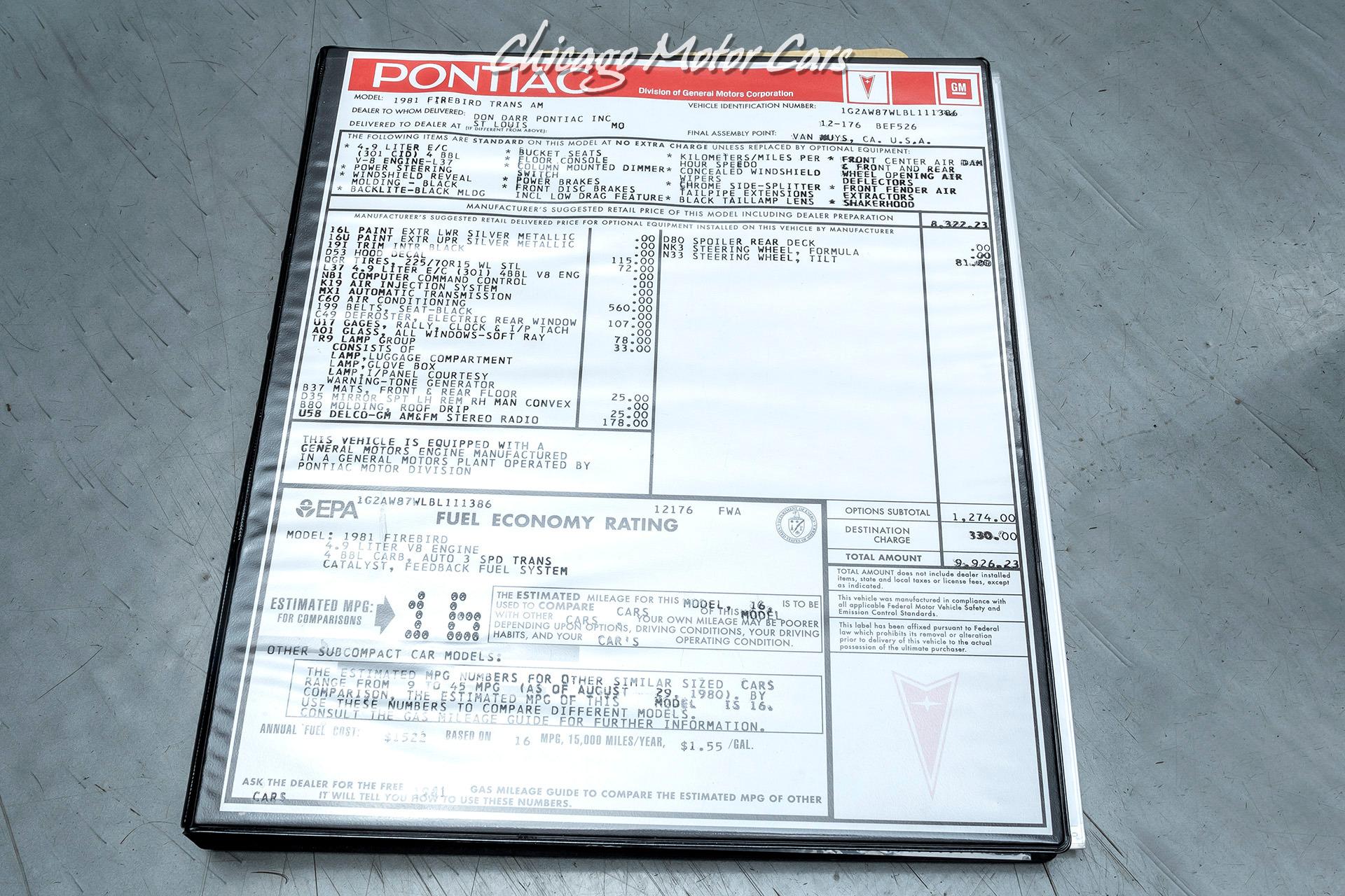 Used-1981-Pontiac-Firebird-Trans-Am---GORGEOUS-CONDITION---EXTENSIVE-DOCUMENTATION