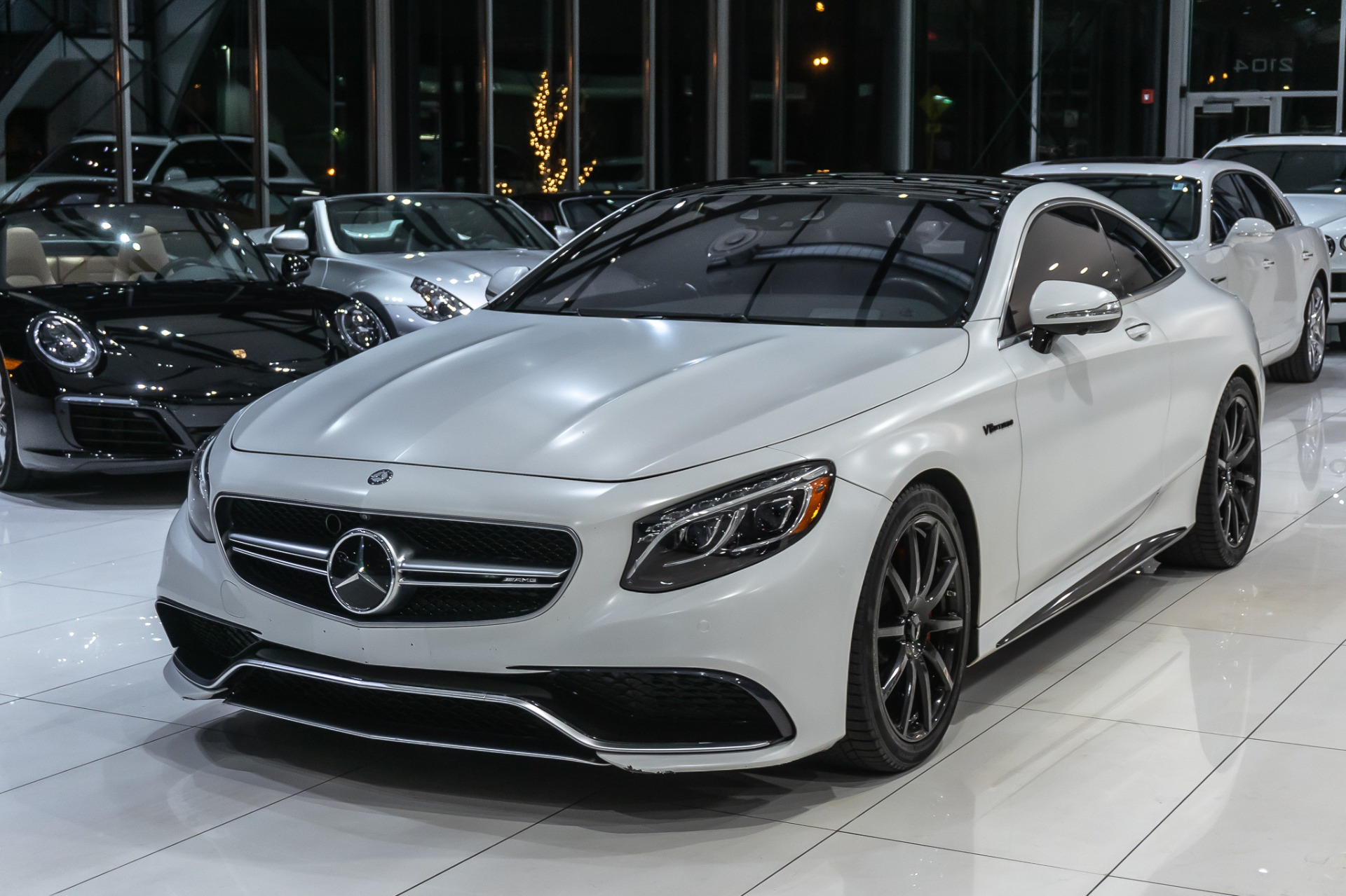 Used 2015 Mercedes Benz S63 Amg Coupe 4matic Pearl White Vinyl Wrap Driver Assist Burmester Distronic Plus For Sale Special Pricing Chicago Motor Cars Stock 16991