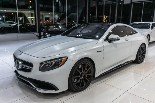Used-2015-Mercedes-Benz-S63-AMG-COUPE-4MATIC-PEARL-WHITE-VINYL-WRAP-DRIVER-ASSIST-BURMESTER-DISTRONIC-PLUS