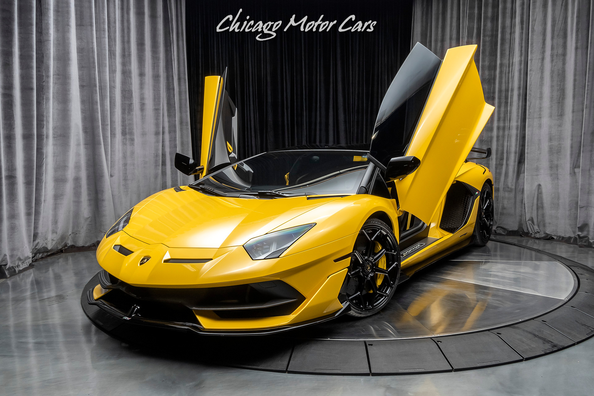 Used 2020 Lamborghini Aventador Svj Roadster Only 263 Miles New Giallo Orion Rare For Sale Special Pricing Chicago Motor Cars Stock 17144