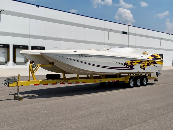 Used-2002-Awesome-Powerboats-38-Foot---Twin-Mercury-600-SCs---ONLY-100-Hours