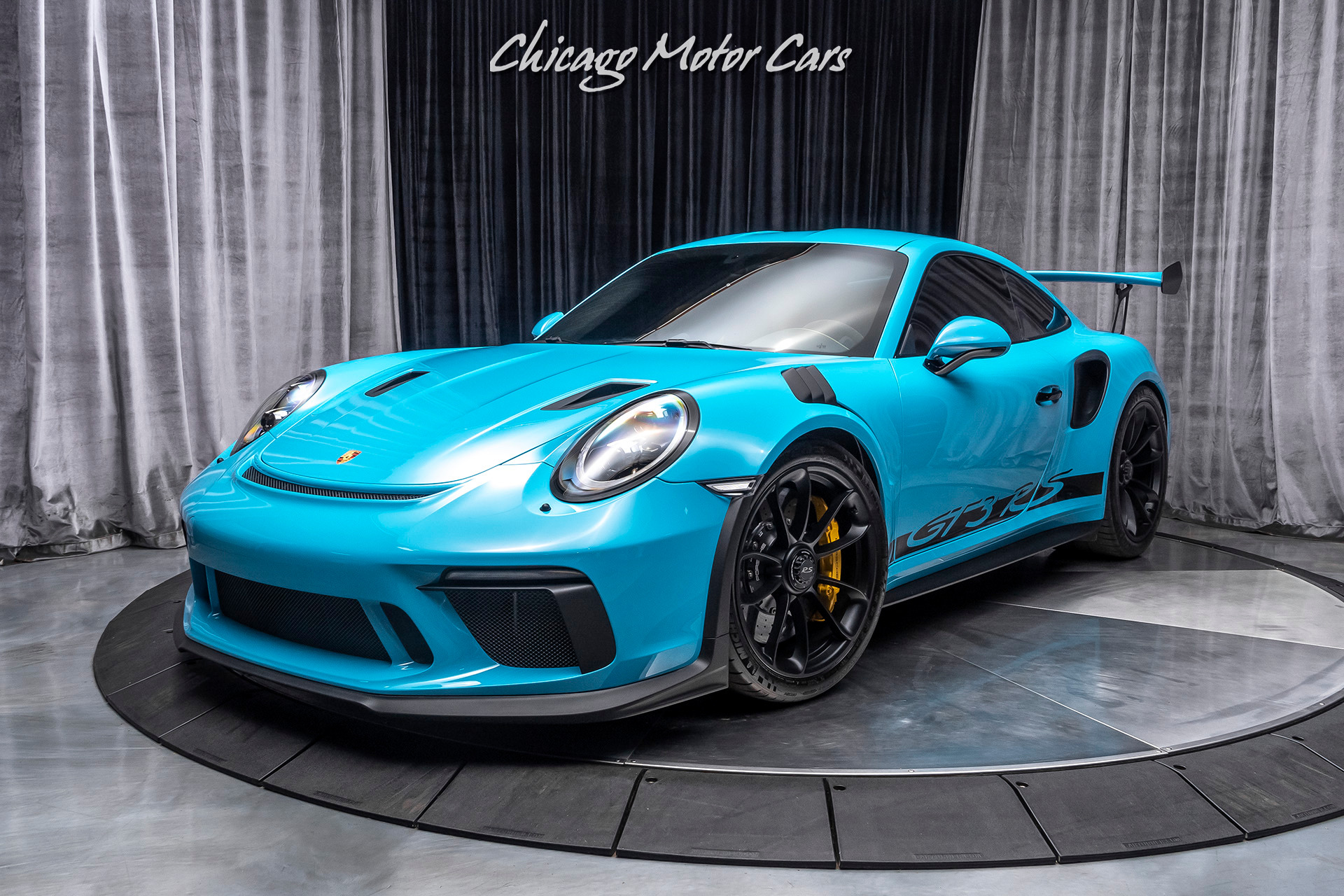 Used 2019 Porsche 911 Gt3 Rs Coupe Miami Blue Only 2800 Miles Loaded For Sale Special Pricing Chicago Motor Cars Stock 17400