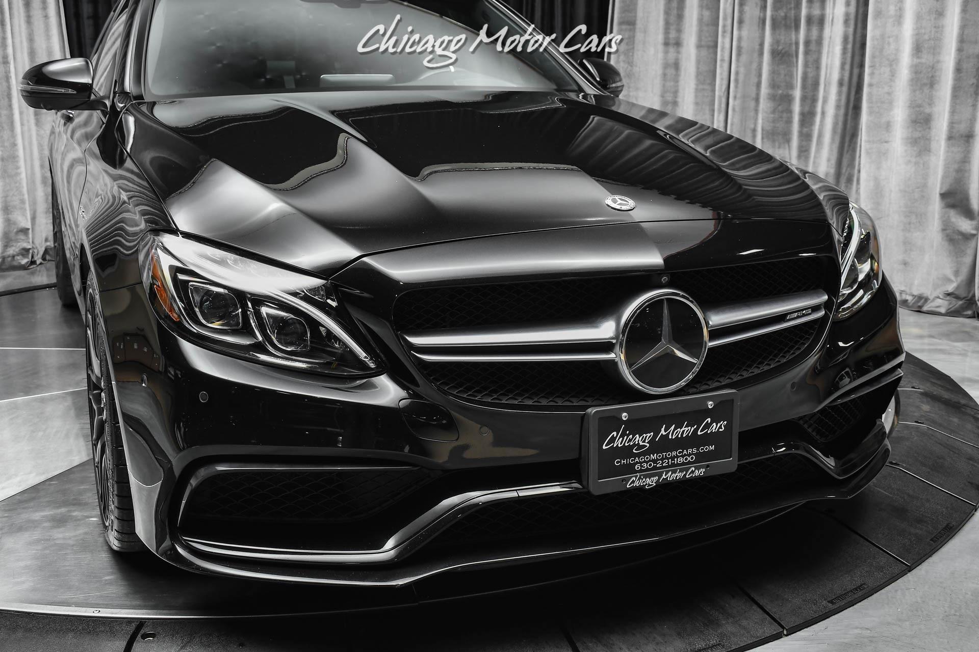 Used-2018-Mercedes-Benz-C63-S-AMG-Performance-Exhaust-Carbon-Fiber-RARE-Triple-Black