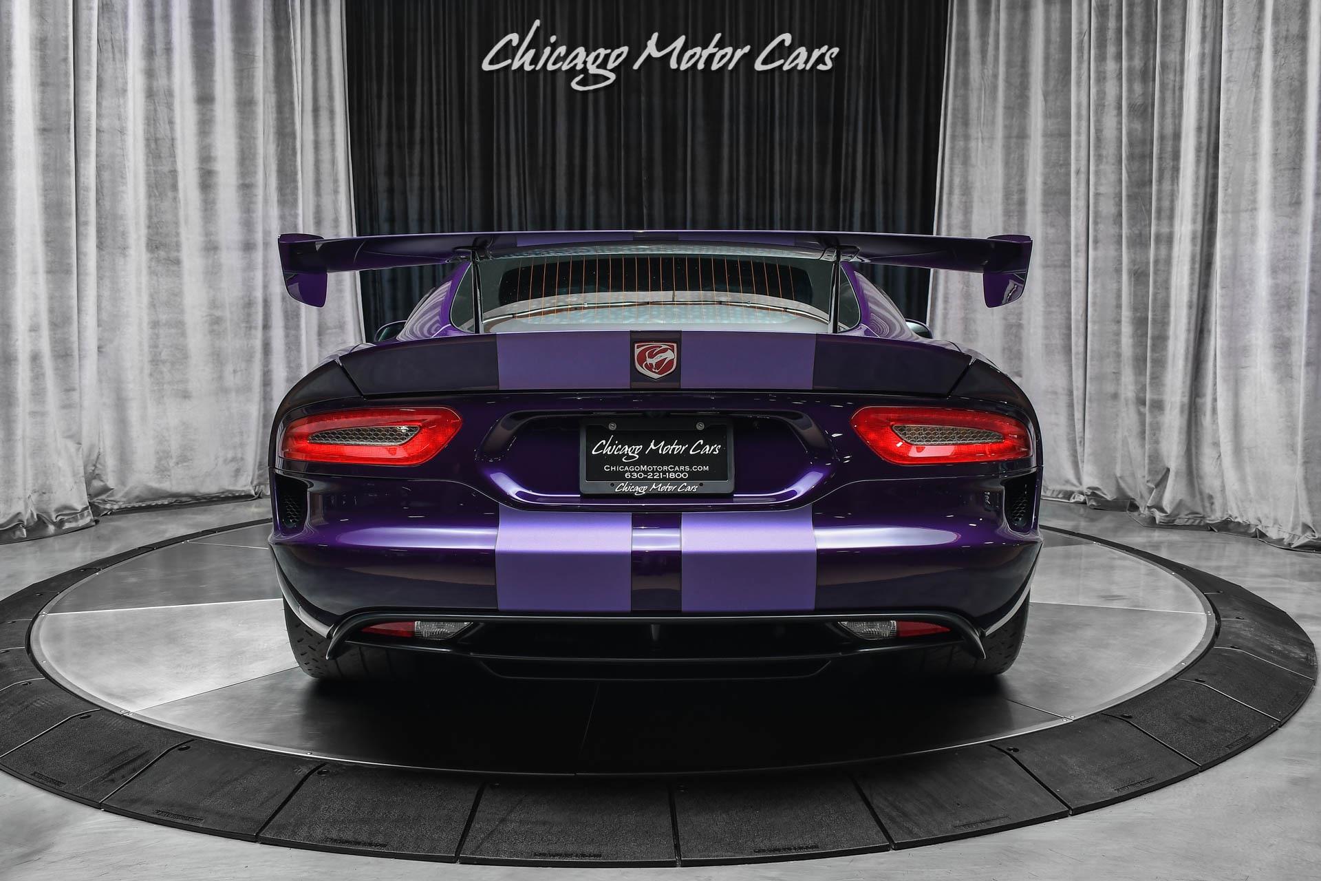 Used-2016-Dodge-Viper-GTC-TA-20-Package-I-SUPER-RARE-Stryker-Purple-Perfect