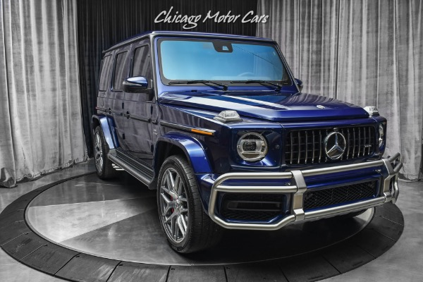 Used-2021-Mercedes-Benz-G63-AMG-SUV-RARE-Designo-Mystic-Blue-ONLY-1100-Miles-Exclusive-Interior-Pack