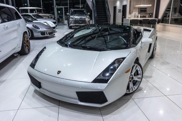 Used-2008-Lamborghini-Gallardo-Spyder-V10-AWD-BALLOON-WHITE-SERVICED-CERAMIC-COATED