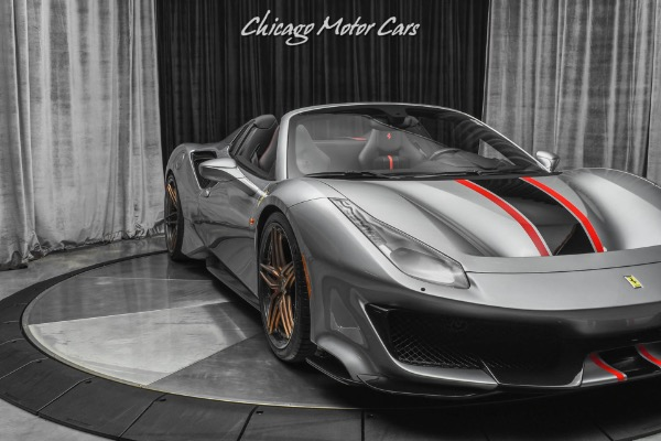 Used-2019-Ferrari-488-Pista-Spider-Convertible-HRE-WHEELS-IPE-EXHAUST-ONLY-900-MILES-LOADED