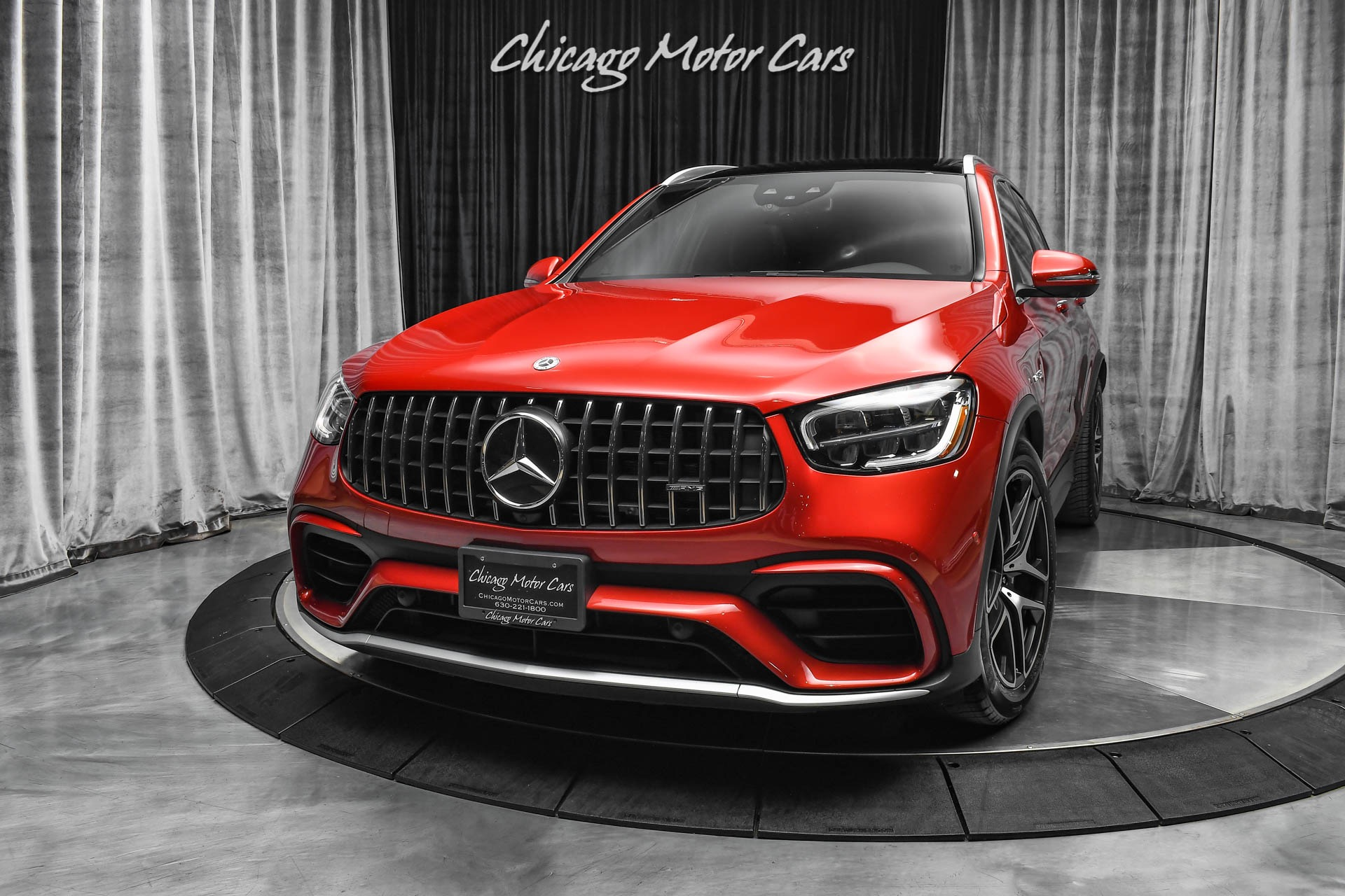 Used-2020-Mercedes-Benz-GLC63-63-AMG-4-Matic-SUV-PANORAMIC-ROOF-PARKING-ASSISTANCE-PKG-CARDINAL-RED