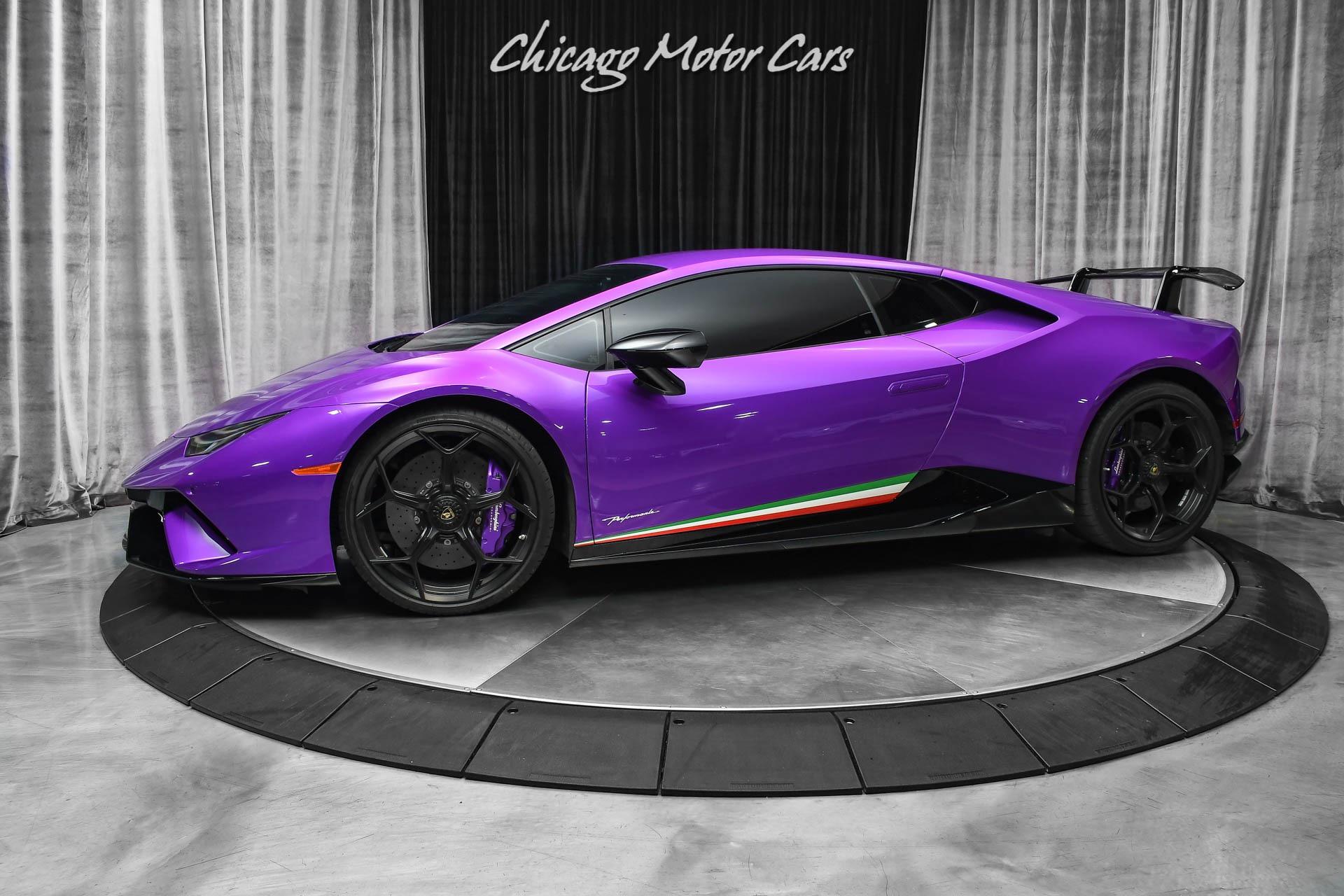 Used-2018-Lamborghini-Huracan-LP640-4-Performante-Coupe-Rare-Ad-Personam-Viola-Parsifae-Lift-System