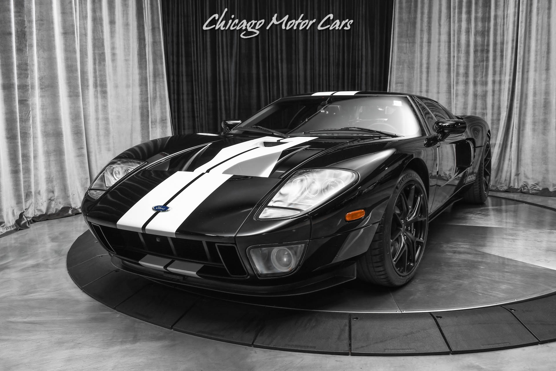 Used-2006-Ford-GT-Coupe-ALL-4-Options-HENNESSEY-GT1000-Package-HRE-Wheels-Black-Stripes