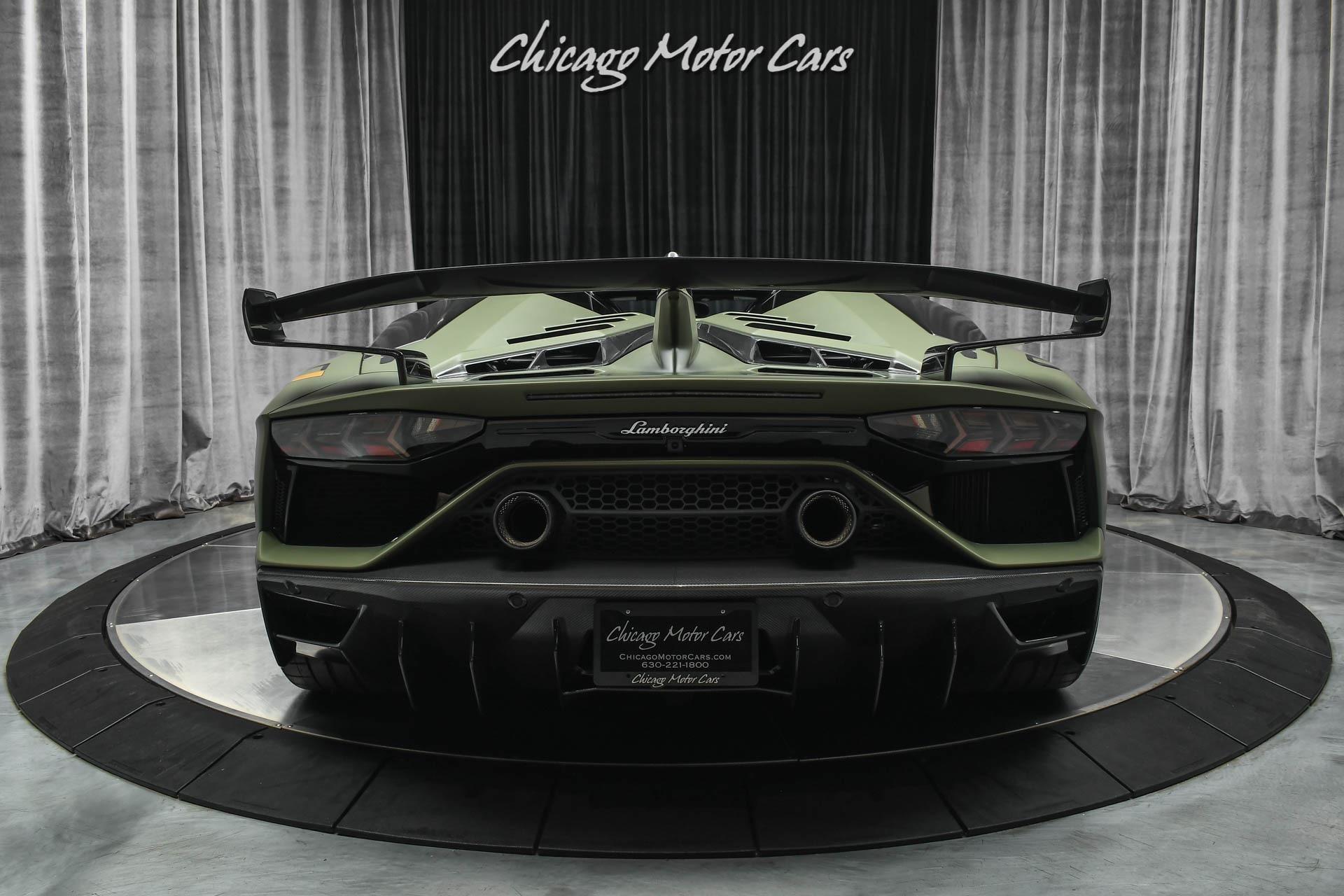 Used-2020-Lamborghini-Aventador-LP770-4-SVJ-Roadster-Factory-MATTE-Green-Carbon-Fiber-Everywhere