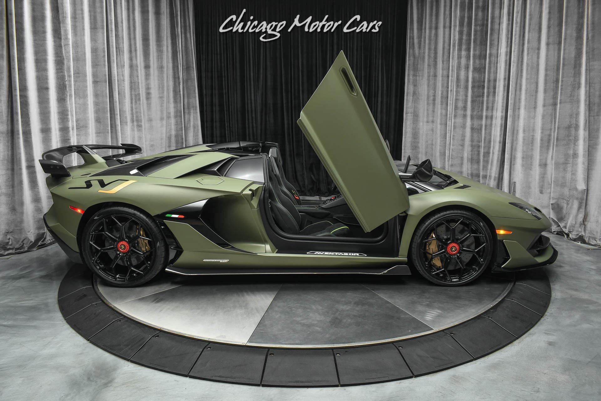 Used-2020-Lamborghini-Aventador-LP770-4-SVJ-Roadster-RARE-Paint-LOADED-Carbon-Fiber-FULL-Ad-Personam