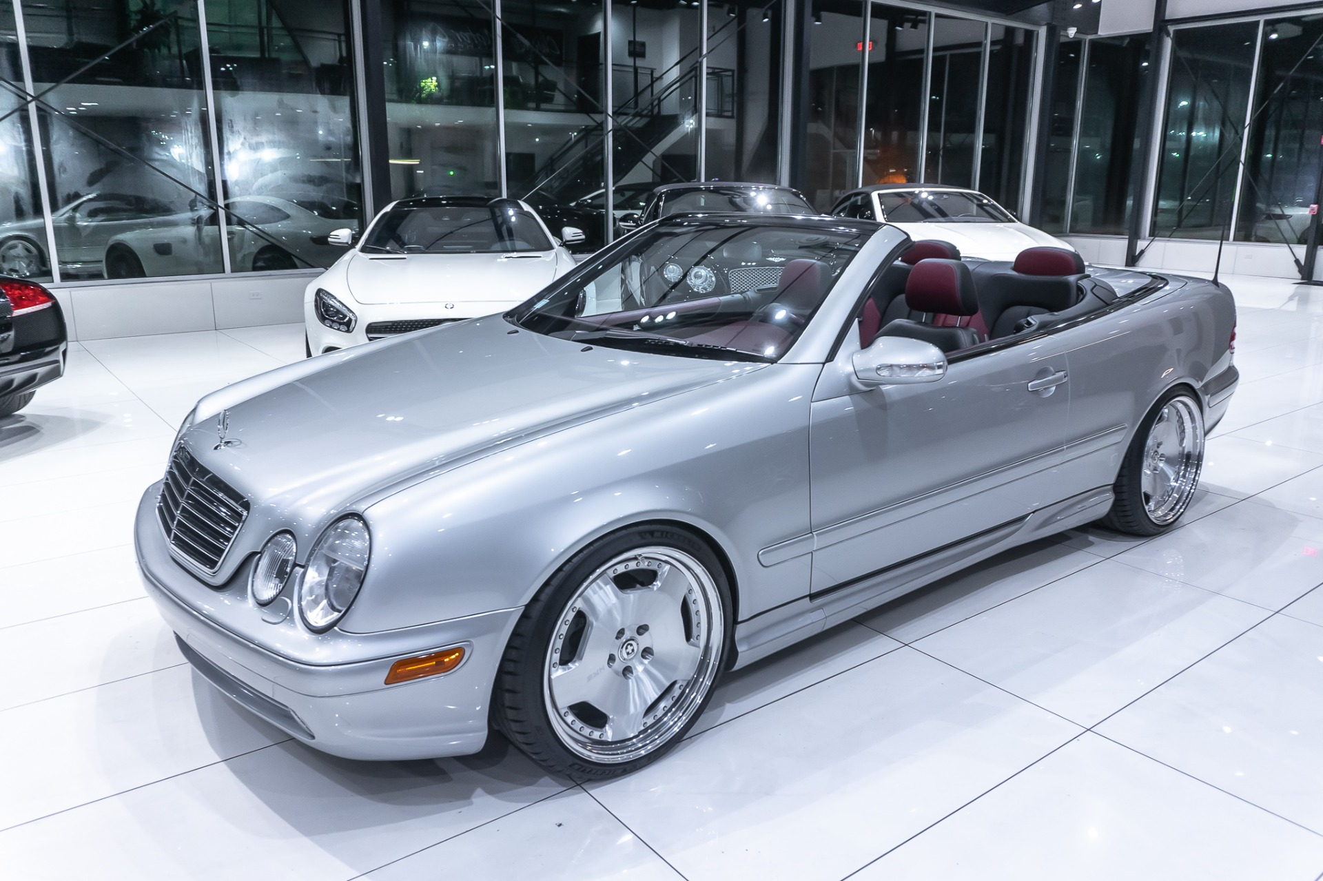 Used-2001-Mercedes-Benz-CLK430-CONVERTIBLE-ONLY-26K-MILES-LOWERED--1-OFF-HRE-WHEELS
