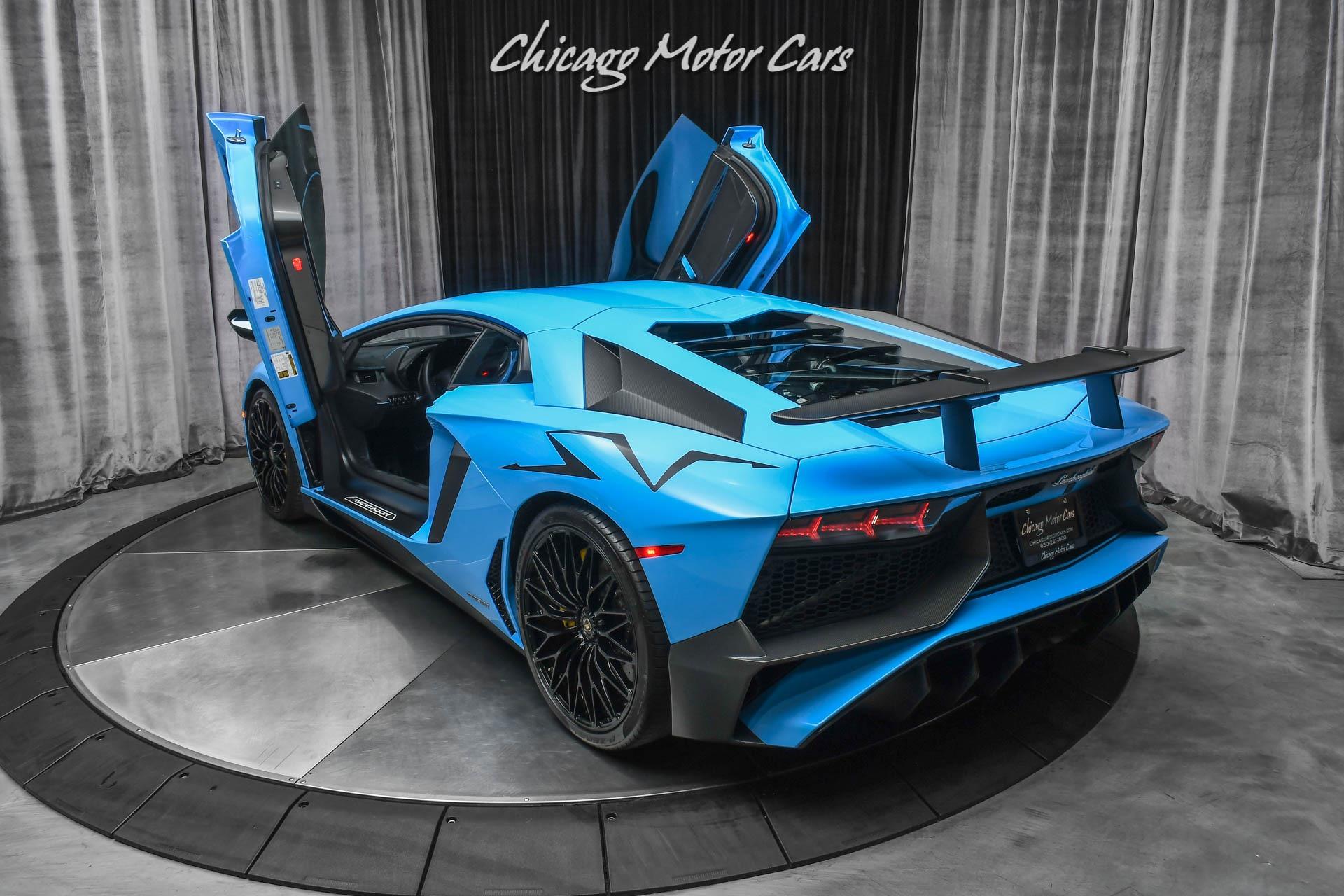 Used-2017-Lamborghini-Aventador-SV-LP750-4-Coupe-RARE-Blue-Cepheus-Carbon-Fiber-Only-5K-Miles